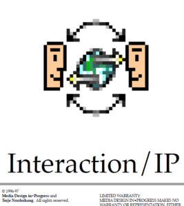 Interaction logo from front of manual
